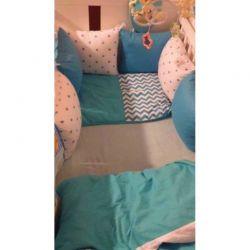 Povlečení pro děti - modrá + obrazec