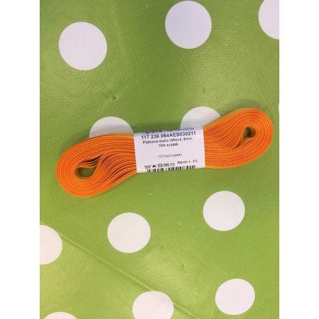 Taftová stuha oranžová 6mm