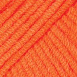Háčkovací příze GINA (Jeans) - neonově oranžová
