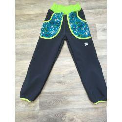 Softshellové kalhoty pro děti - teplé motýlci