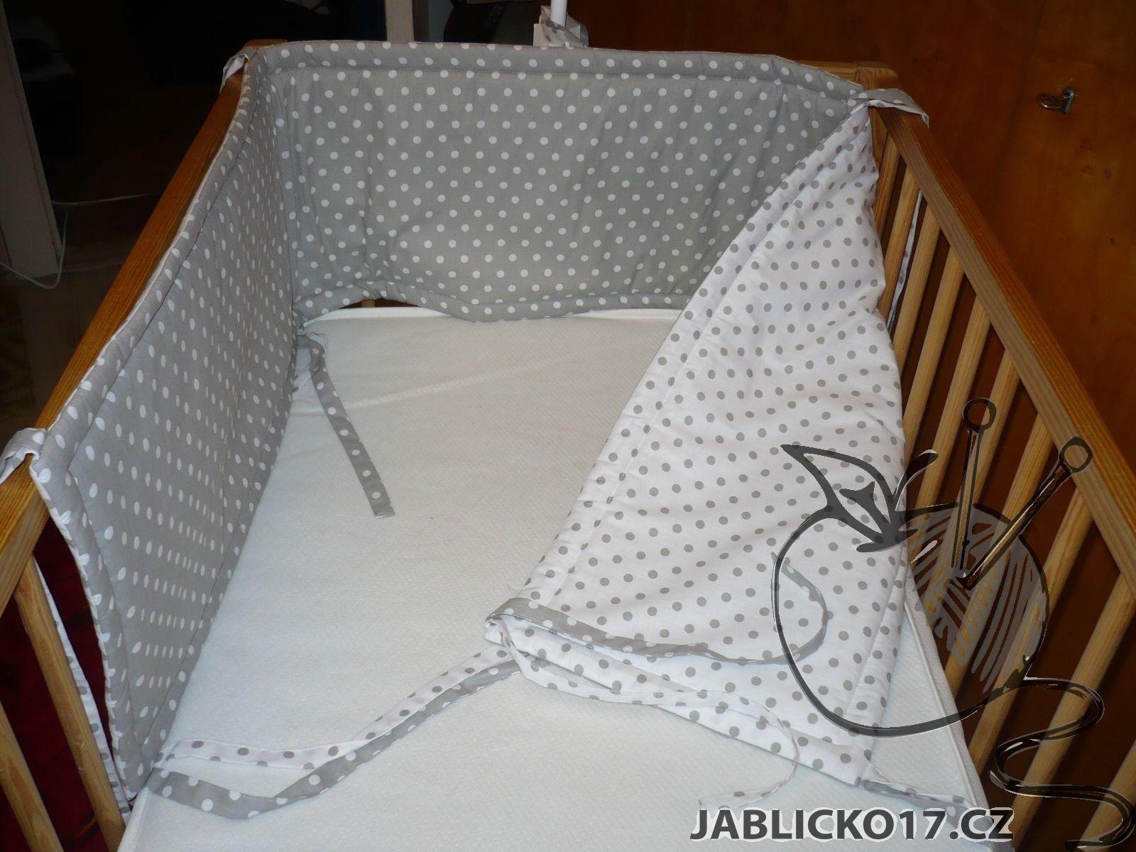 Rovný mantinel - šedá, bílá puntík(více variant)