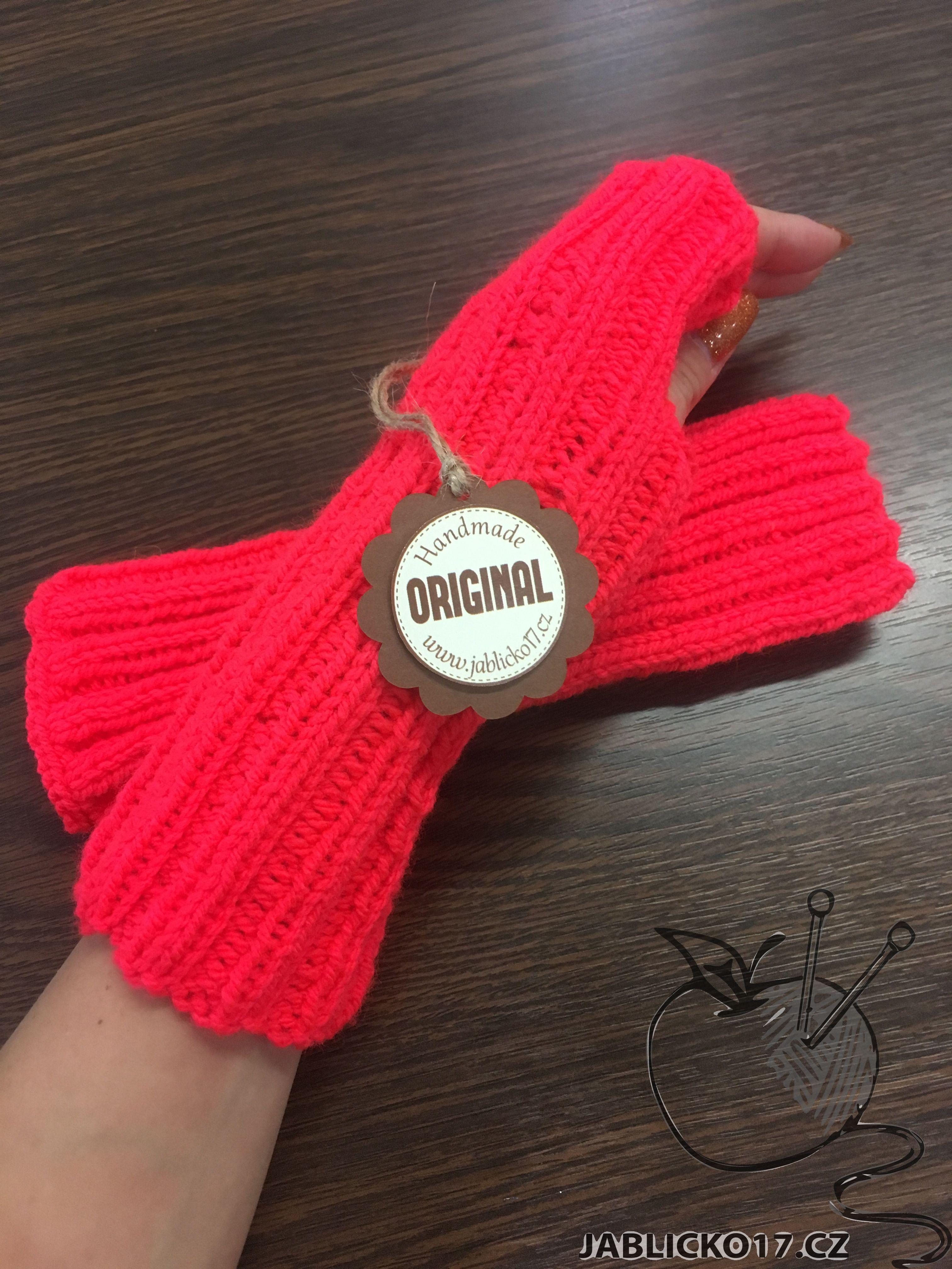 Návleky na ruce - neon oranžová
