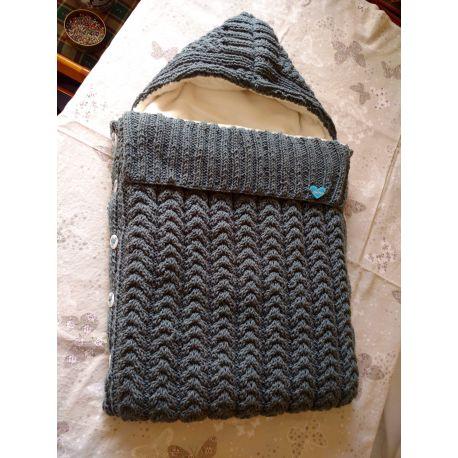 Pletený dětský fusak - šedá