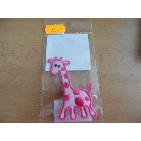 Nažehlovačka - žirafa - oranžová
