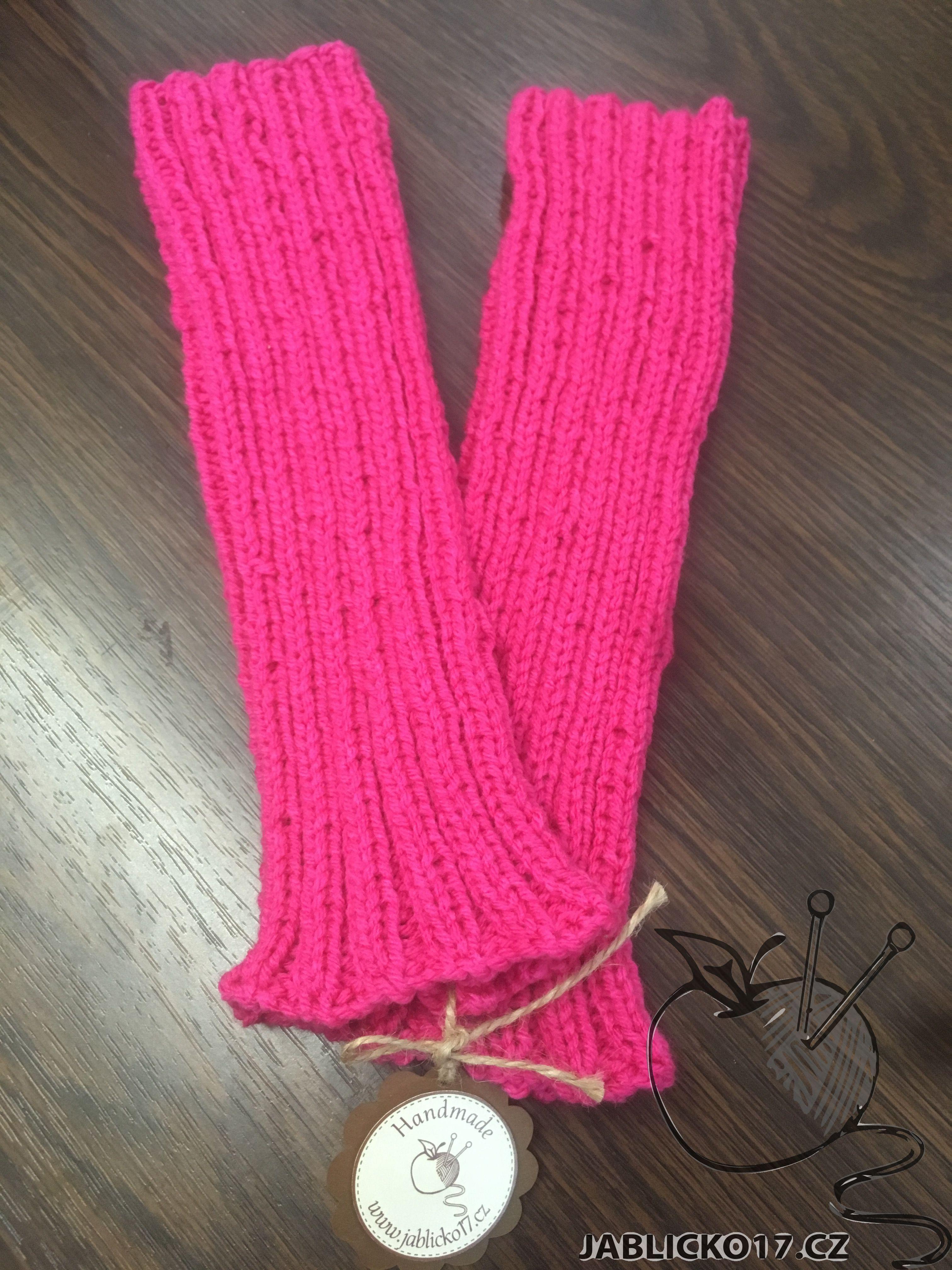 návleky na nohy růžová