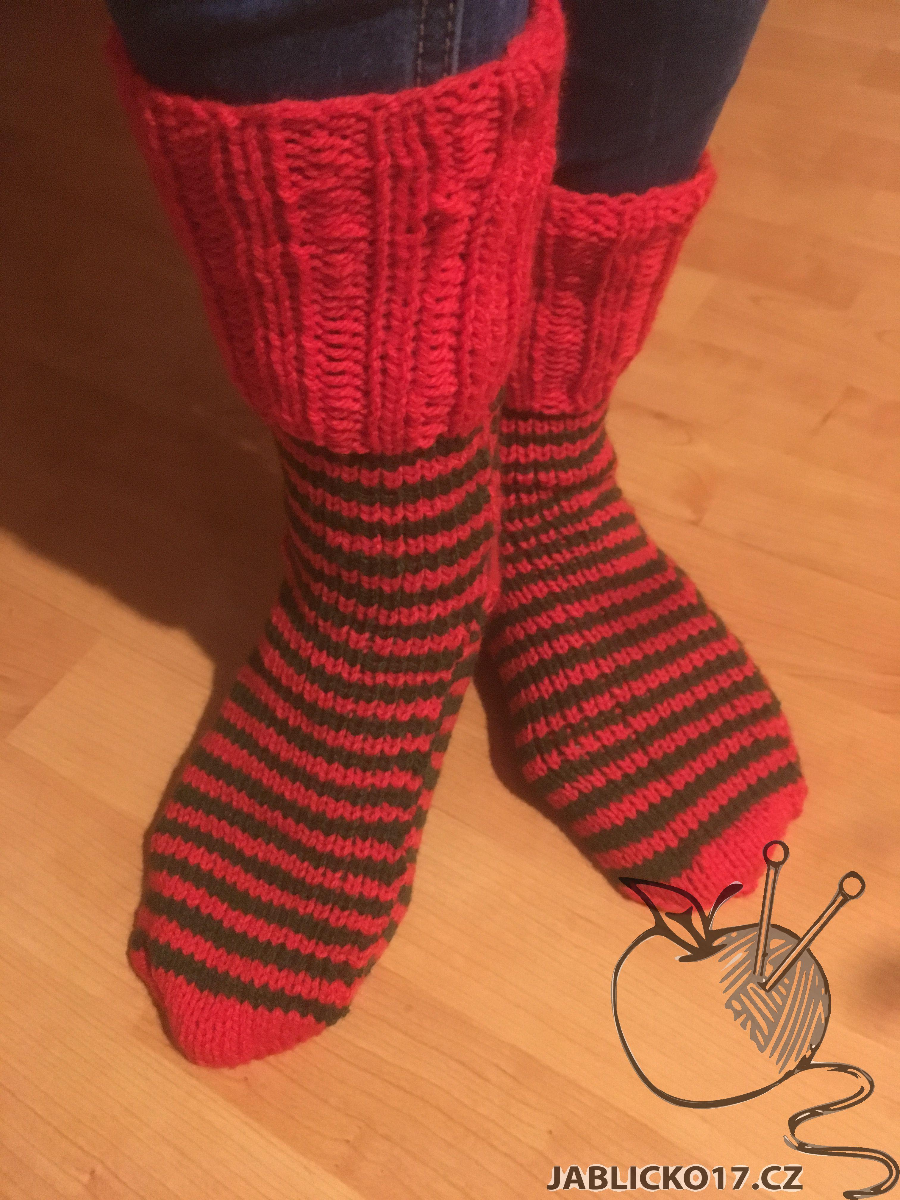 Ponožky zeleno červená