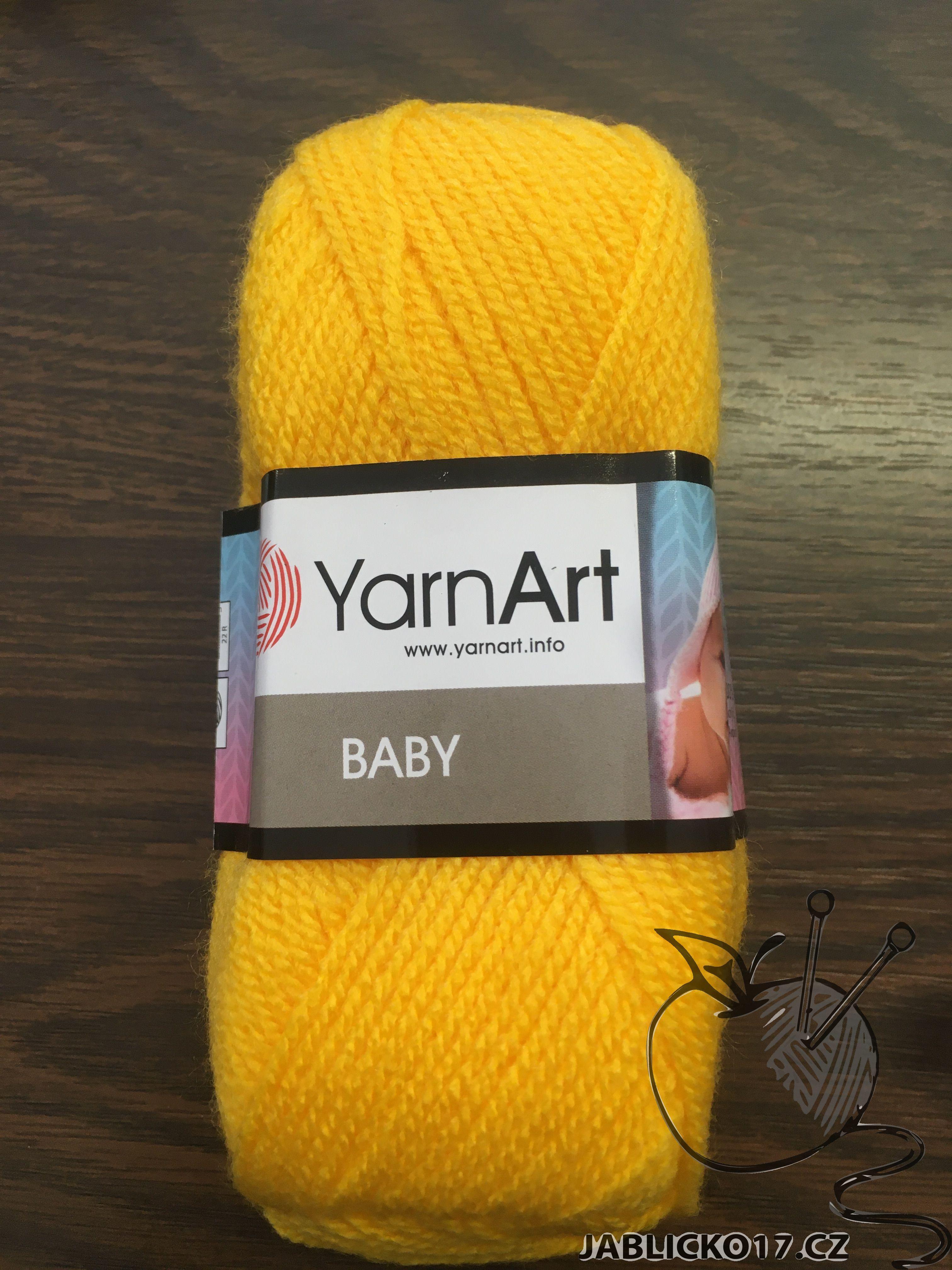 Pletací příze Baby - žlutá