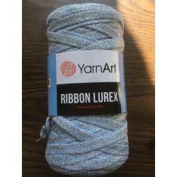 Ribbon lurex modrošedá