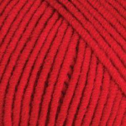 Háčkovací příze GINA (Jeans) - červená