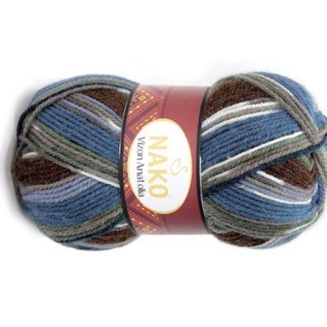 VIZON ANATOLIA modro hnědý melír