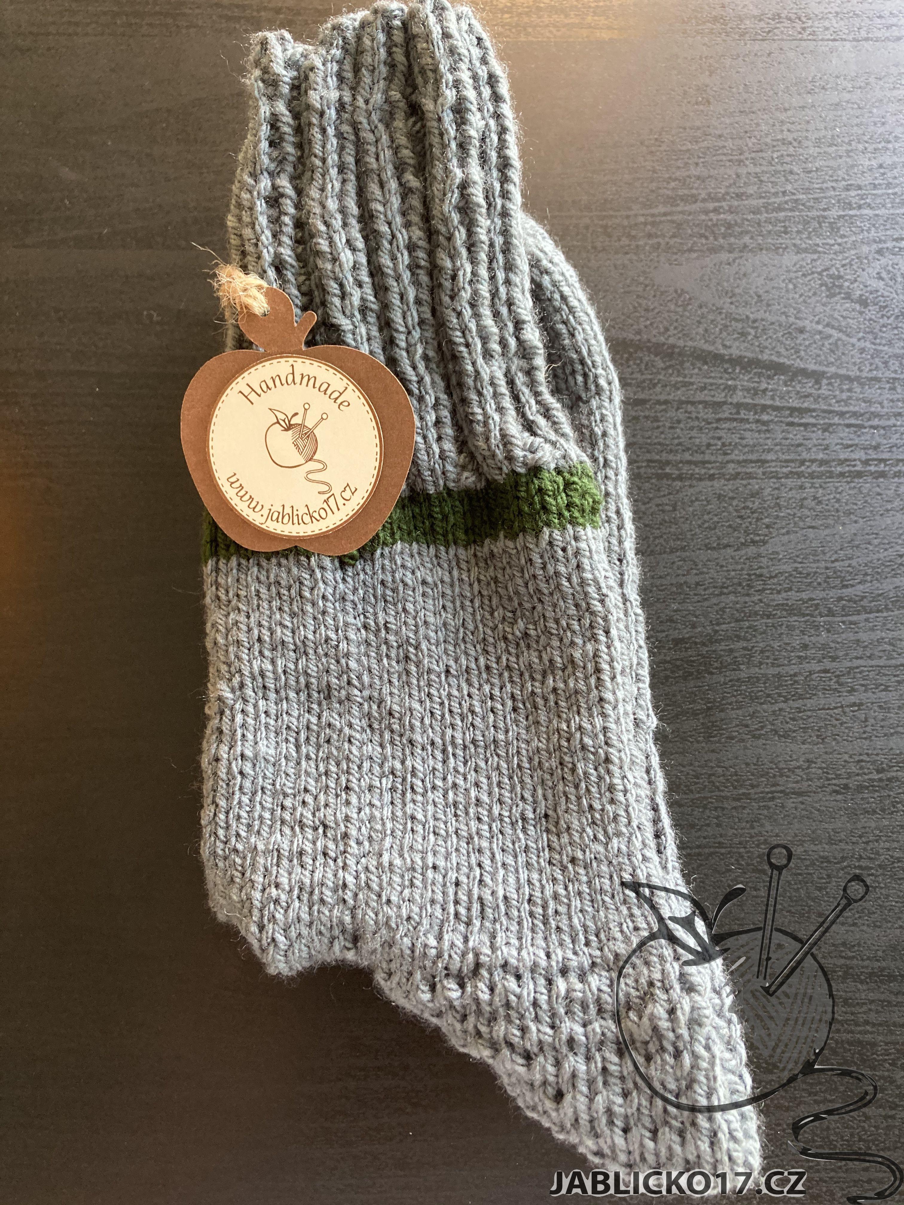 Ponožky hnědozelené
