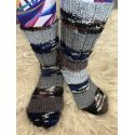 Ponožky samovzorovací šedá, modrá