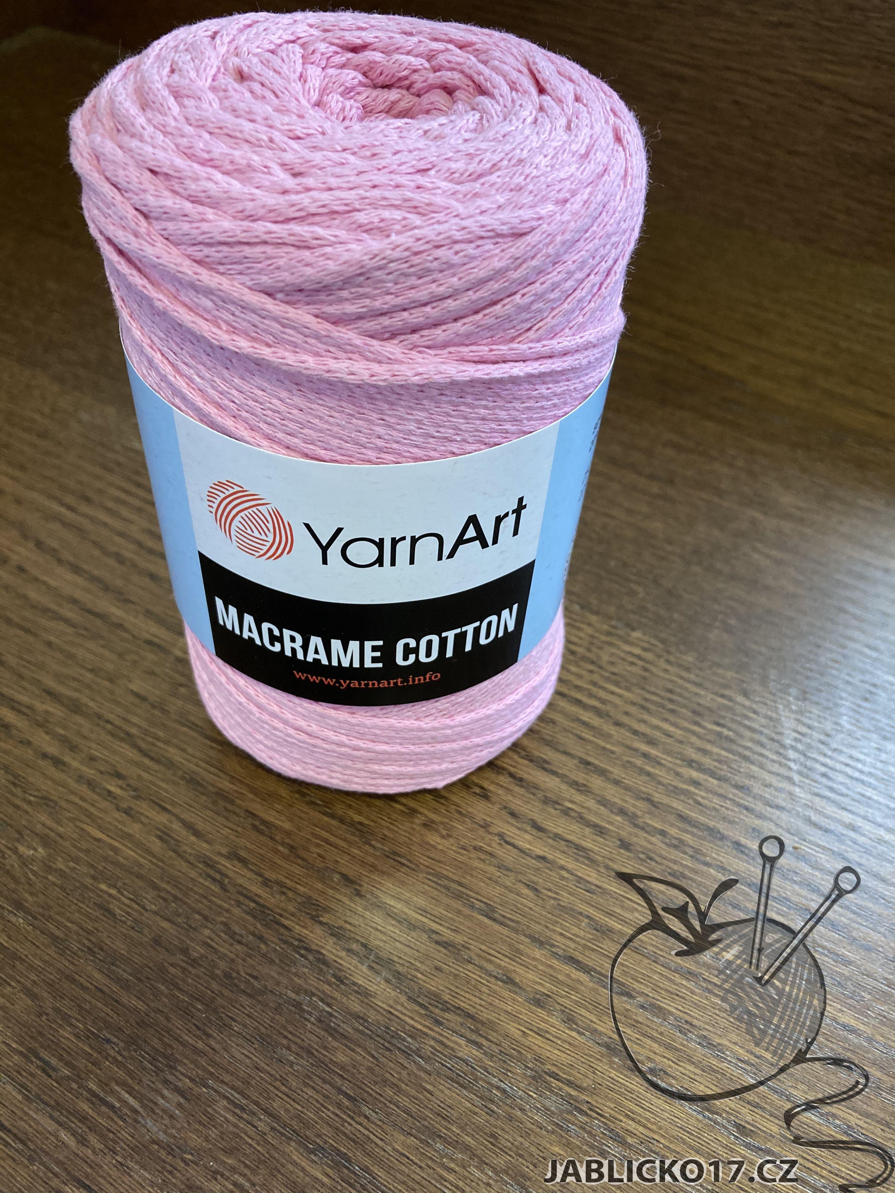Macrame cotton růžová