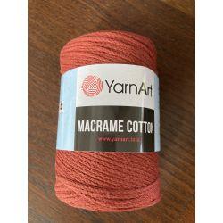Macrame cotton cihlová