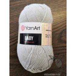 Pletací příze Baby - šedá